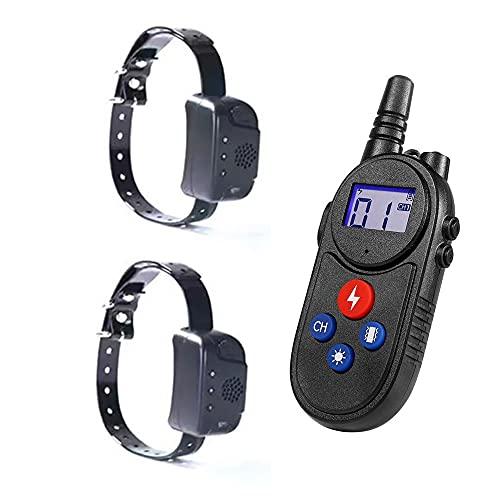 Intercomunicador 1500m Automático Premium Collar Antiladridos para Electrico Collares Anti Ladridos Dispositivo Entrenamiento Vibración Perros Pequeños Y Grandes