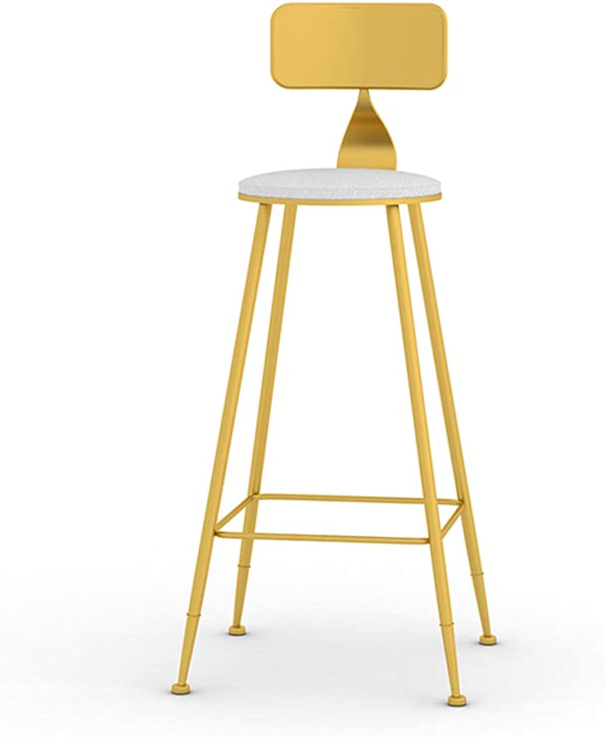 Nordic Style Bar Stool, Modern Minimalist High Chair Bar Chair, Fashion Creative Personality Backrest High Stool Bar Home