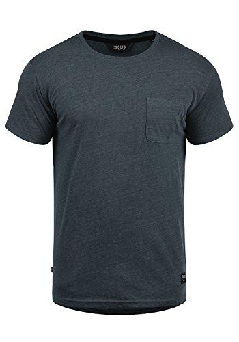 !Solid Bob Herren T-Shirt Kurzarm Shirt Mit Rundhalsausschnitt, Größe:L, Farbe:INS BLU M (P8991)