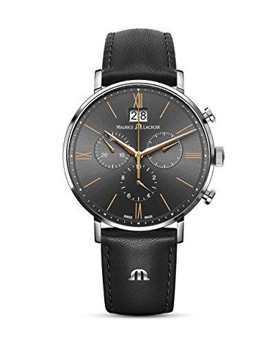 Maurice Lacroix Herren Uhr Analog Quarz Mit Leder Armband El1088-Ss001-812-1
