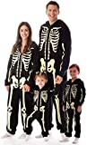 #followme Glow In The Dark Skeleton Boys Jumpsuit Pajamas 6541-7