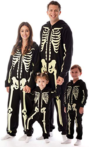 #followme Glow In The Dark Skeleton Boys Jumpsuit Pajamas 6541-14-16