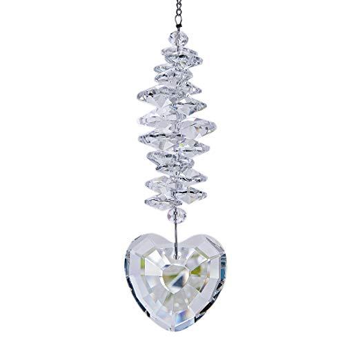 H&D Kristall Regenbogen Sonnenfänger Glas Herzform Prisma Anhänger hängendes Fenster Garten Dekor