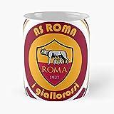 Roma I Football Totti Serie Italia A As Italia Soccer Giallorossi - La Migliore Tazza in Ceramica da 11 Once - Tazza Classica per caffè, tè, Cioccolato o Latte