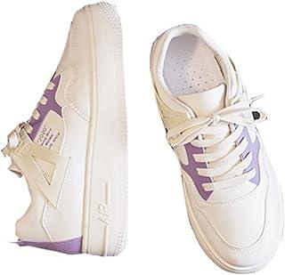 DEBAIJIA Sneakers Femme Baskets Chaussures De Course Blanc Chaussures Sport Running Décontractées Confortables EU