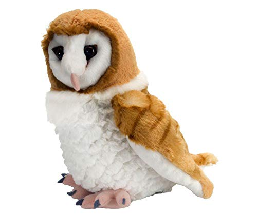 Wild Republic Barn Own  Cuddlekins  Stuffed Animal  12 inches  Gift for Kids  Plush Toy  Fill is Spun Recycled Water Bottles