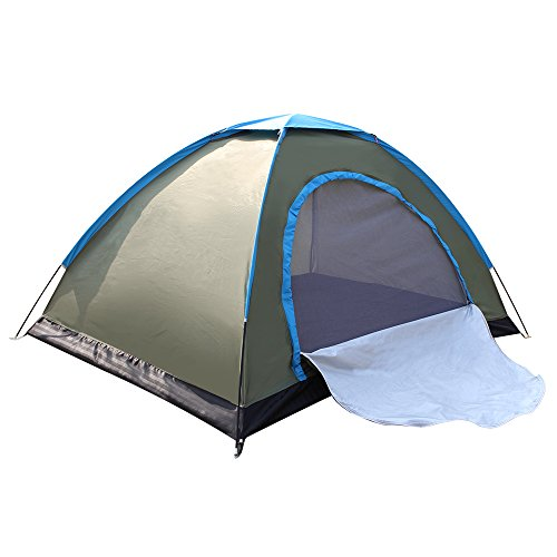 Techcell 2 Person Tent Camping Instant Tent Waterproof Tent Backpacking Tents for Camping Hiking Traveling(A)