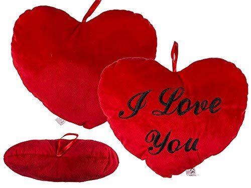 """Shots Fun, Cuscinetto a forma di cuore con scritta """"I Love You"""", 35 cm"""