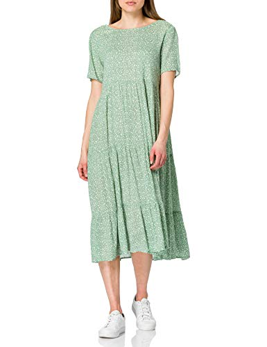 ONLY Damen ONLABIGAIL Life S/S MIDI Dress WVN NOOS Kleid, Chinois Green/AOP:AVA White Flowers, 40