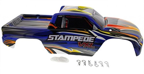 Traxxas Stampede 2WD VXL BLUE BODY & DECALS * Clips Washers 4x4 XL-5 Pede -  USA
