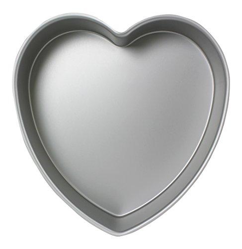 PME - Moule à Gâteau en Forme de Cœur en Aluminium Anodisé, 203 mm x 75 mm de Profondeur