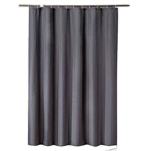 MaxAst Reine Farbe Duschvorhang Anti Schimmel, Grau Badewanne Vorhang 260x200CM, Antibakteriell Wasserdicht mit Kunststoff Ringe Kein Rost