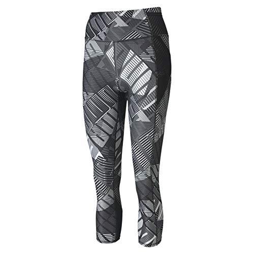 PUMA Damen Leggings Be Bold AOP 3/4 Tight, Black/White/Be Bold Q1 PRT, M, 518322