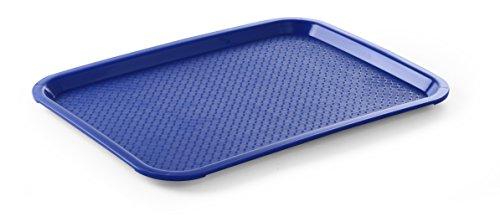 Hendi Serviertablett, Tablett, Temperaturbeständig bis 80°C, Fastfood, Polypropylen, 265x345mm, Blau, 878729
