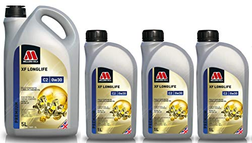 Millers Oils XF Longlife 0w30 C2 SN Huile Moteur entièrement synthétique 8 litres