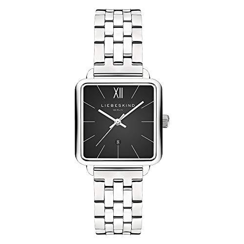 Liebeskind Berlin Damen Analog Quarz Uhr mit Edelstahl Armband LT-0175-MQ