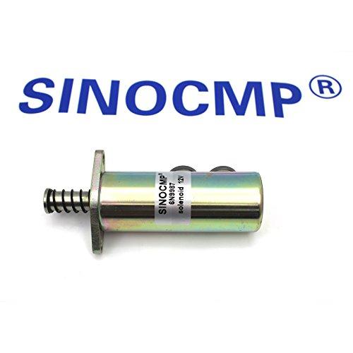 6N9987 6N-9987 Solénoïde 12V - SINOCMP Solénoïde d'arrêt pour Caterpilla CAT 3208 Series Moteur, garantie de 3 mois