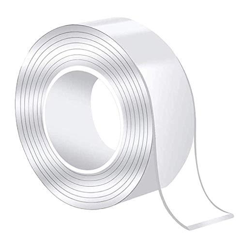 両面テープ 魔法のテープ 超強力 はがせる テープのり 養生テープ 透明 強力両面テープ 超強力両面テープ 魔法両面テープ ナノテープ 魔法テープ 水洗い可能,繰り返し使用 透明,ナノ 多機能 取り外し可能 残らず 空間節約 滑り止め 防水 耐熱 強力 絨