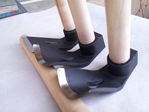 Juego de tres herramientas de madera para tallar cuencos, recto, grande, pequeño y curvo