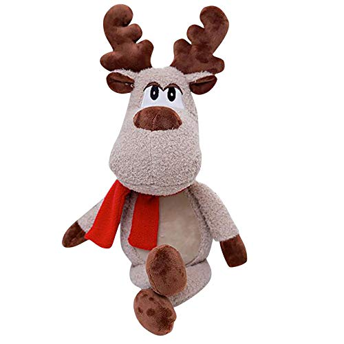 BBQQ Christmas Elk Plush Toy Doll Ragdoll Christmas Fawn Creative Gift, Christmas Decorations Tree Ornaments Skirt Topper Lights Pajamas for Family