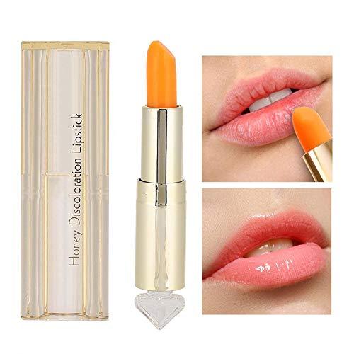 Bálsamo labial hidratante, 3.5 g/ml Cambio de color Hidratante Nutritivo Lápiz labial Bálsamo labial Mujeres Maquillaje Herramientas de belleza Bálsamo labial nutritivo de larga duración Cuidado