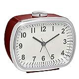 TFA Dostmann Reloj Despertador analógico con función de repetición de Alarma, Color Burdeos, 115 x 65 x 125 mm