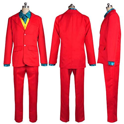 POEO Carnevale 2019 Joker Disfraz Cosplay Mens Adulti Performance Traje Uniforme Joker Suit Outfit Disfraz Cosplay di Halloween,S