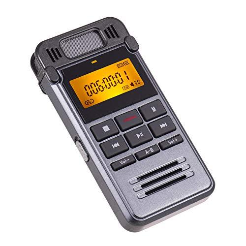 LLSL Grabadora de Sonido de Voz Digital, Reproductor de música MP3 / grabación de un Solo botón/Soporte Activado por Voz/grabación de teléfono Fijo 8GB
