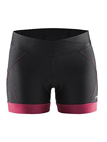 Craft Move Hot Pant velo Dame Nero e Rosa corsari Bicicletta Donna