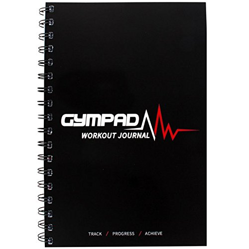 GymPad - A Stylish Workout Journal with Over 25 Useful Resources - Designed and Created by Fitness Professional's - Premium Quality A5 Journal Black (Single)