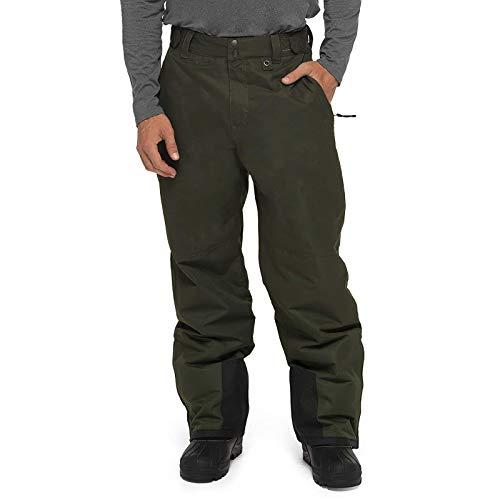 Vobery Pantalones de Senderismo para Hombre Pantalones Softshell Impermeables Pantalones Al Aire Libre Pantalones de Esquí con Forro Cálido A Prueba de Viento Pantalones de Snowboard
