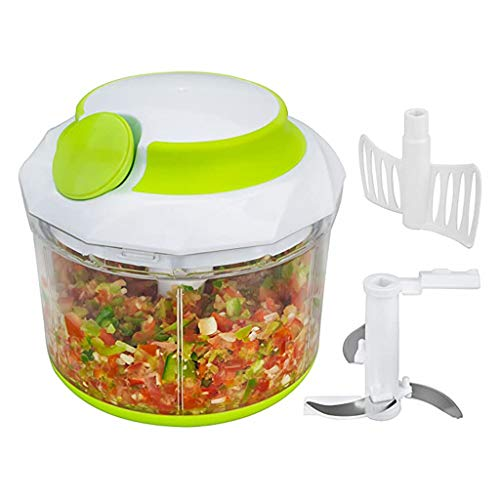 Handmatige Food Chopper Processor, Multifunctionele Home Kitchen Handmixer Blender Veggie Onion Food Processor Groente Keuken Handheld Pull Slicer Mincer