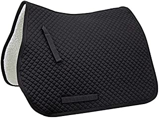 Derby Originals All Purpose Quilted English Saddle Pad with Fleece Lining