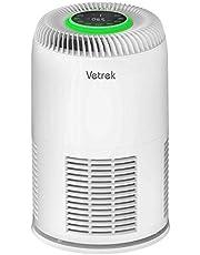 空気清浄機 花粉症 PM2.5小型 脱臭 殺菌 静音イオン発生 ホコリ 対策 6種浄化システム 4段階風量 高感度ホコリセンサー 時間設定 子供ロック搭載 20畳 ホワイト Vetrek