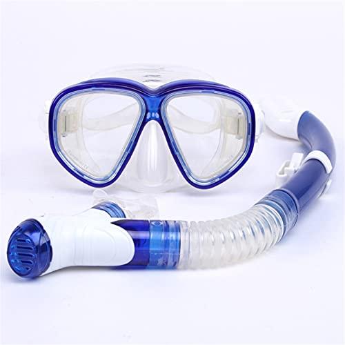 Juego de snorkel seco, equipo de snorkel para adultos, vidrio templado antivaho resistente a los impactos, máscara de snorkel panorámica de vista amplia, equipo de snorkel profesional para adultos