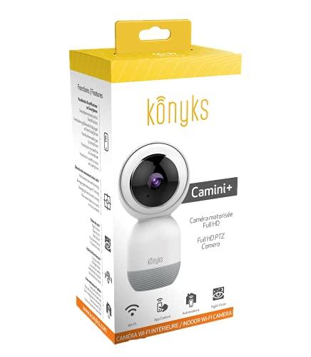 Konyks Camini+, Caméra WiFi Full HD Motorisée, détection de Mouvement avec Suivi...