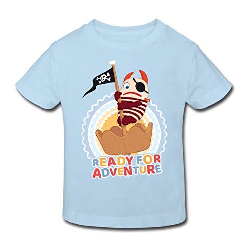 Sorgenfresser Flint Ready for Adventure Kinder Bio-T-Shirt, 122-128, Hellblau