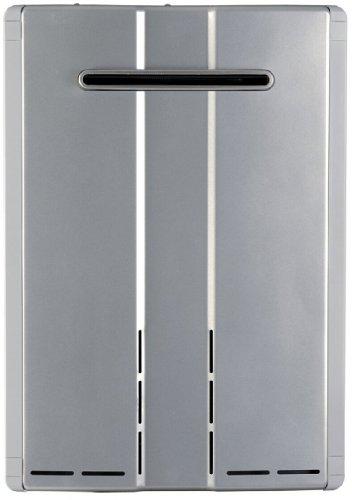 Rinnai RU80EN Ultra-NOx tankless water heater, Large, Silver