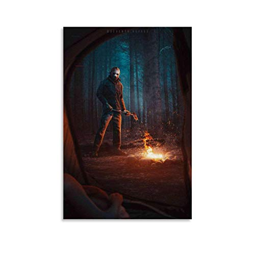 YONGTAO Horror Poster Jason Voorhees Poster Decorative Painting Canvas Wall Art Living Room Posters Bedroom Painting 08x12inch(20x30cm)