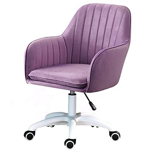 360° drehbarer Bürostuhl aus Samt, Verstellbarer Gaming-Liftstuhl, ergonomischer Computersitz mit mittlerer Rückenlehne und Armlehne