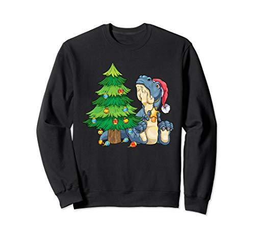 T-Rex am Weihnachtsbaum trauriger Dino Weihnachten Sweatshirt