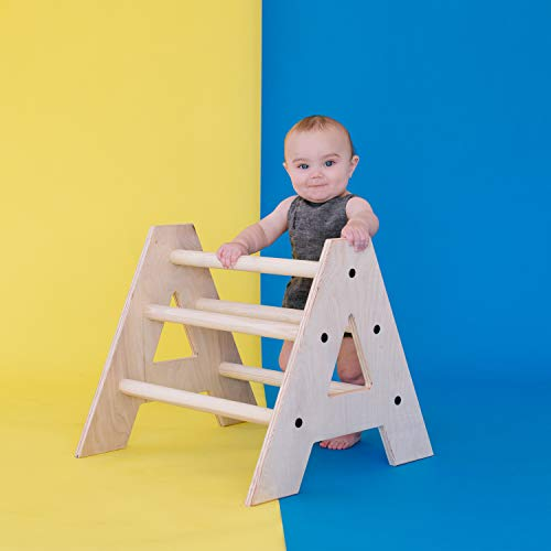 Homi Baby Mini Pikler Climbing Triangle - Perfect to Help Little Ones Build Strength to Stand - Made...