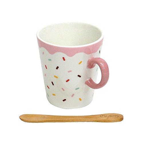 小倉陶器 マグカップ スプーン付 ポップアイスキャンディ ストロベリー 直径7.9cm 300366