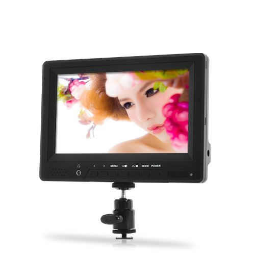 BW 7 Inch On-Camera HD DSLR Monitor with 1080P HDMI in and Out - Black