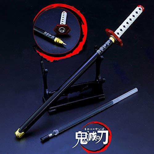 Demon Slayer: Kimetsu no Yaiba Toys Action Figures Tomioka Giyuu Katana Knife Signature Pen Sword Weapons Game Collection Party Supplies Gift Sword Metal Arts Collections (DS- )
