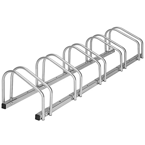 TecTake Rastrelliera portabici per Biciclette | Metallo Rivestito - Modelli Differenti - (per 5 Biciclette | 402379)