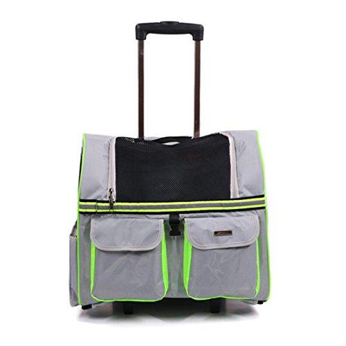 CWBB Hundetrolley Rucksack,trolley rucksack mit rollen Hunde Trolley, silver