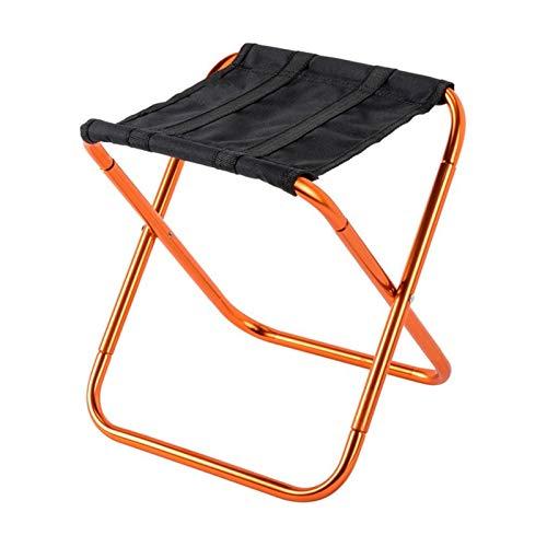 KJGHJ Alquiler De Aleación De Aluminio Portátil Silla Plegable Al Aire Libre Tren Mini Mazar Taburete De Descanso Silla Camping Pesca Taburete Pequeño Banco Pequeño (Color : Orange)
