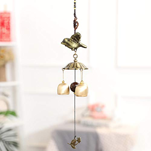 Tangyuan Japanse geschenken, windspel, parelmoer, kersen, mascotten, metaal, windspel, ornament, koper, bel, hangdeur, rual, huis, wandbehang, ornament, bel, diefstalbescherming Asuka