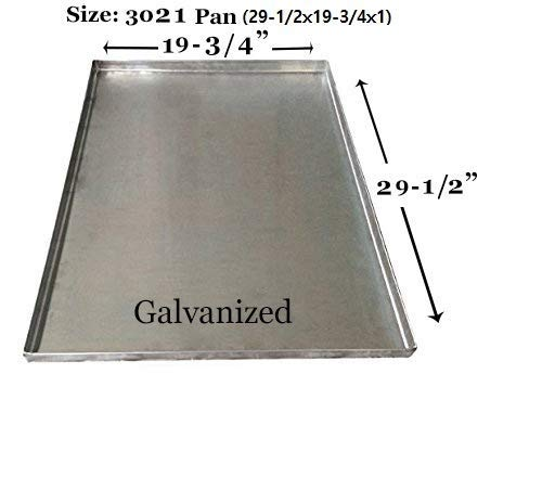 """Pinnacle Systems Metal Replacement Tray for Dog Pet Crate for Large Dogs Pet Kennels Tray Metal Pet Kennel Tray Replacement - Central Metal - GL - 29 1/2"""" x 19 3/4"""" x 1"""" H Basic Crates"""